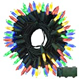 Lalapao M5 Battery Operated String Lights 100 LED Clear Mini Fairy Christmas Lighting Decor Timer for Outdoor, Indoor, Garden, Patio, Lawn, Holiday, Bedroom Wedding Xmas Decorations (Multi Color)