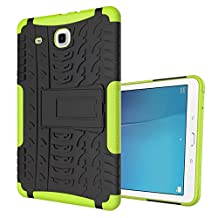 Samsung Tab E 9.6 T560 Case, Valenth Hyun Series 2 in 1 Shell Heavy Duty Compact Hard Back Cover Case with Kickstand for Samsung Galaxy Tab E T560 Green