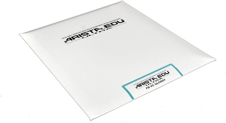 Arista EDU Ultra FB VC Black & White Photographic Paper, Glossy 8x10, 25 Sheets