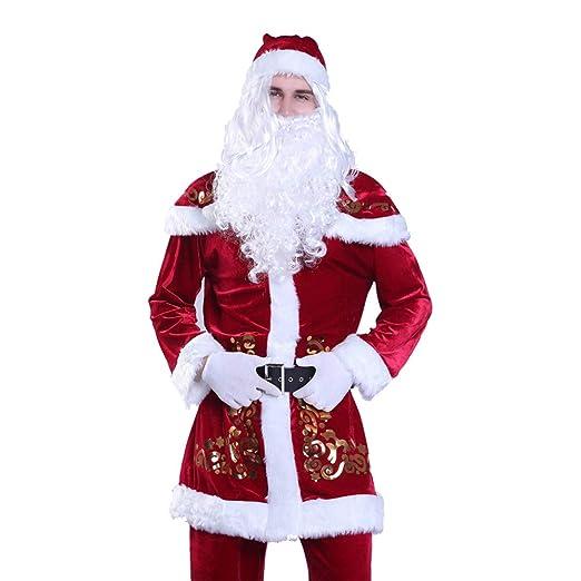 GSDZ - Disfraz De Santa Claus, Deluxe Velour Juego De Santa ...