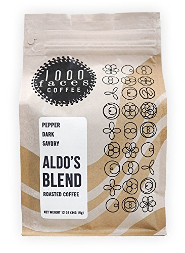 SCAA: 1000 Faces Coffee, Aldo's Blend, Organic Whole Bean, Artisan Small Batch Roasted (12 oz.)