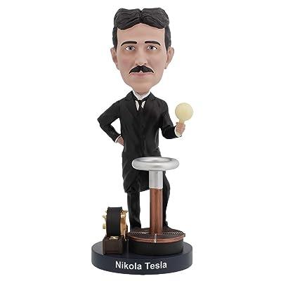 Royal Bobbles Nikola Tesla Bobblehead with a Glow-in-The-Dark Light Bulb: Toys & Games