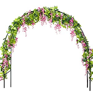 Luropa 4 Pcs 7.2 Feet Artificial Flower Vine Silk Leaf Wisteria Garland Hanging Rattan for Wedding Home Decoration 3