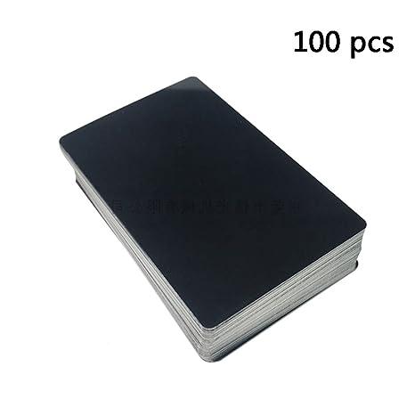 frjjthchy 100 pcs business cards blanks laser engraving business credit card black - 100 Business Cards