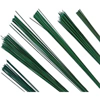 Flower Making Wire 20 Guage Dark Green Pack of 2-100 Wires 14inch Length