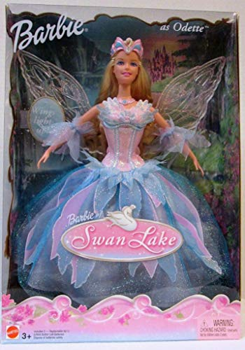 Swan Lake Barbie Doll as ODETTE w Light Up Wings (2003)