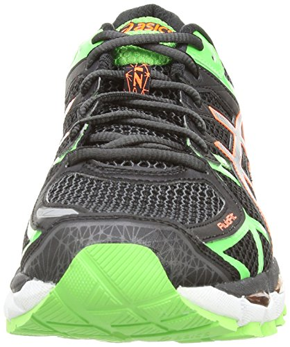 Asics Gel-Kayano 21, Scarpe Sportive, Uomo Black/Lightning/Flash Green 9091