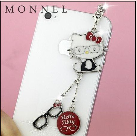 - Red Hello Kitty Glasses Style Dust Plug-Earphone Jack Accessories for Iphone 4 4s/ipad/ipod Touch/samsung/other 3.5mm Ear Jack (1 Piece) IP50