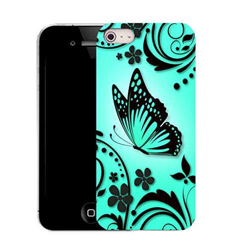 Mobile Case Mate iPhone 5c clip on Silicone Coque couverture case cover Pare-chocs + STYLET - AQUA CARESS pattern (SILICON)