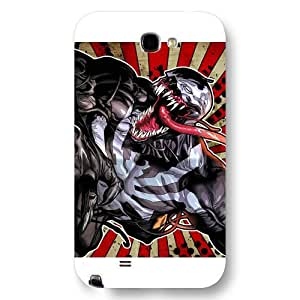 UniqueBox Customized Marvel Series Case for Samsung Galaxy Note 2, Marvel Comic Hero Spider Man Logo Samsung Galaxy Note 2 Case, Only Fit for Samsung Galaxy Note 2 (White Frosted Case)