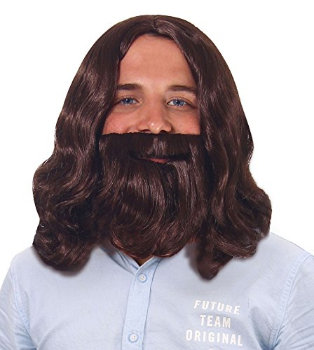 Men's Jesus Wig and Beard Set for Costume / Cosplay, Brown