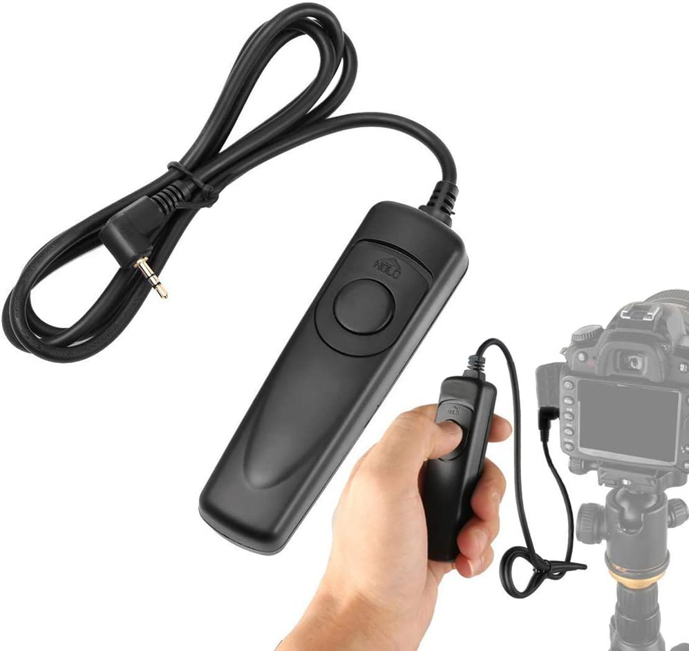 Brattie Shutter Release Cable Camera Remote Shutter Release Cable Control Switch Cord for Canon EOS//Nikon RS-80N3