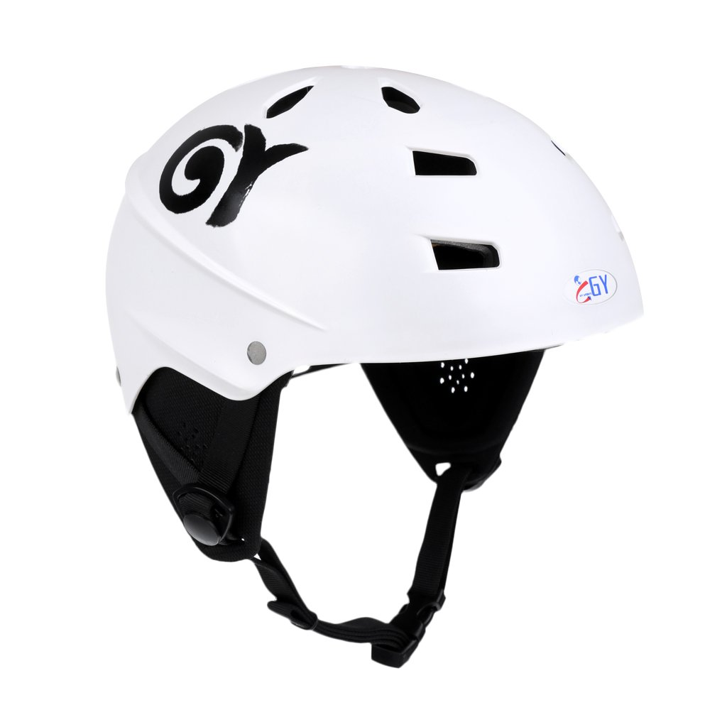 MonkeyJack CE Approved White XL 63-65cm Safety Helmet with Air Vents for Water Sport Canoeing Kayaking Wakeboarding Head & Ear Protection