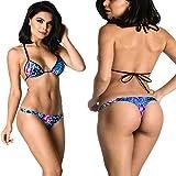 COQUETA Sexy Brazilian Bottom Teeny Micro Thong Mini Bikini Swimwear Set MAUI-SMALL