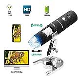 PFC Optics Wireless Digital Microscope 50X-1000X 1080P Handheld Portable Mini WiFi USB Microscope