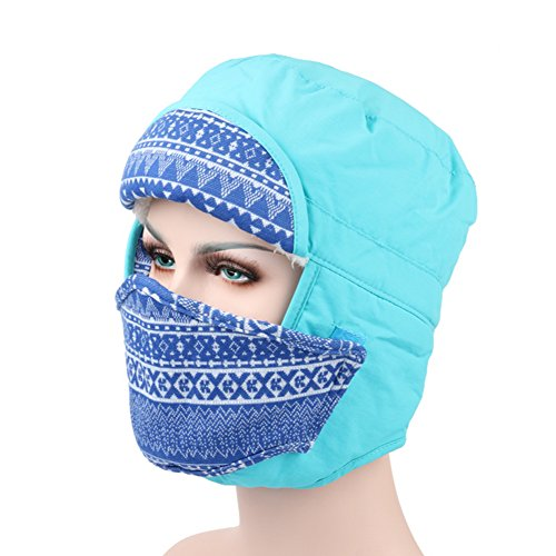 [Ezyoutdoor Unisex Windproof Fleece Warm Winter Beanie Trapper Hat Hunting Hat Ushanka Ear Flap with Chin Strap and Mask Double Use for Outdoor Sport Ski Hat Cycling Motorbike,One Size Fit Most] (Authentic Stormtrooper Costume For Sale)