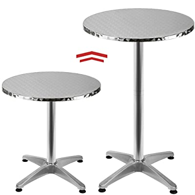 Deuba Table Haute 4 pieds Table Ronde de Bar Table de Bistrot Table ...