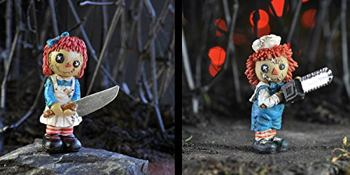 Fiddlehead Fairy Garden Bundle of 2 Psycho Massacre Rag Dolls