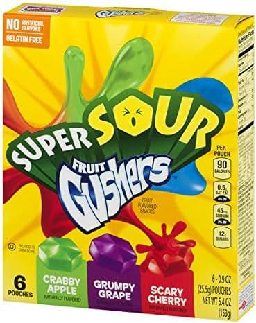 Fruit Snacks: Fruit Gushers Super Sour