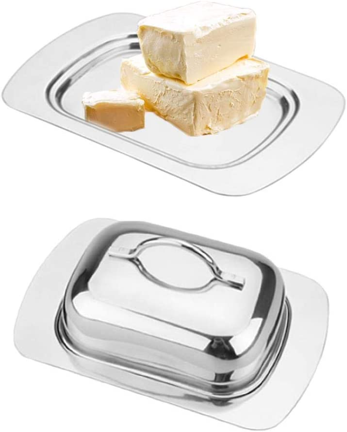 tidystore Stainless Steel Butter Dish with Lid