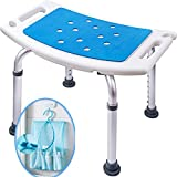 Bath Seats Medokare Shower Stool with Padded Seat - Shower Seats for Seniors with Tote Bag, Shower Bench Bath Chair, Handicap Shower Seat for Adults, Shower Stools and Benches