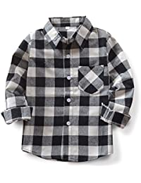 Boys' Long Sleeve Button Down Plaid Shirt
