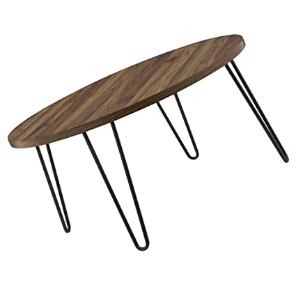 Amazoncom Mid Century Modern Coffee Table Round Simple Modern