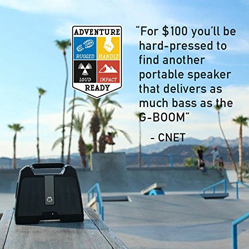 G-Project G-BOOM Wireless Bluetooth Boombox Speaker Rugged Portable Speaker with Rechargeable Battery (Black) by G-Project (Image #4)