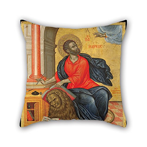 slimmingpiggy-16-x-16-inches-40-by-40-cm-oil-painting-tzanes-emmanuel-st-mark-the-evangelist-throw-p