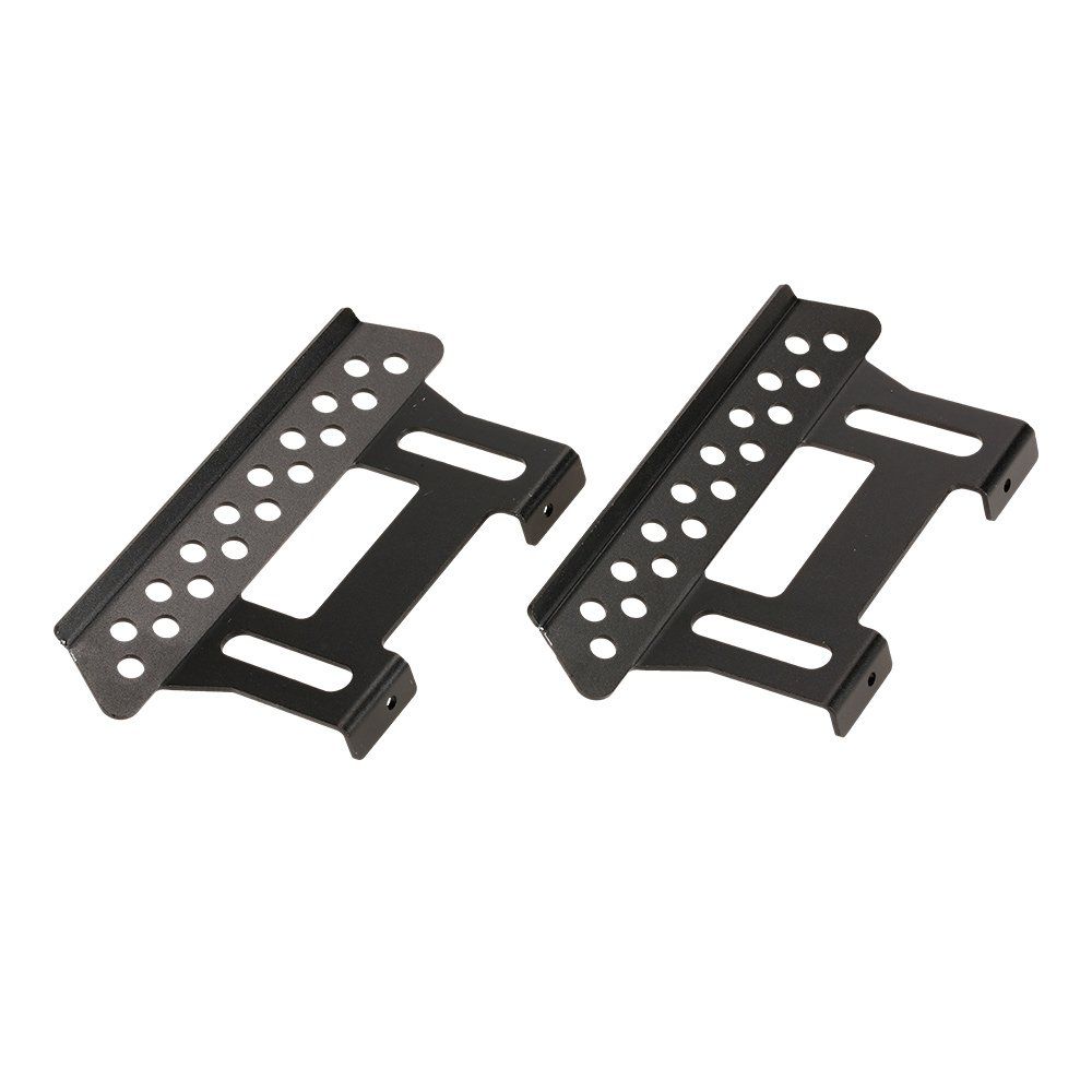Goolsky Placa lateral del pedal del lado exterior del metal 2Pcs para 1/10 Axial SCX10 RC Rock Crawler Parts