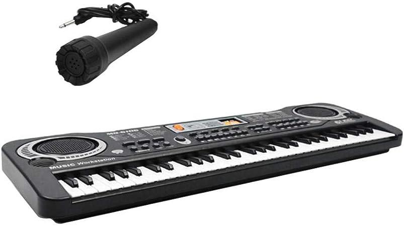 Piano para niños, teclado para niños, 61 teclas, teclado para ...