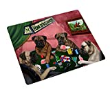Home of Bullmastiff 4 Dogs Playing Poker Large Tempered Cutting Board 15.74'' x 11.8'' x 5/32''
