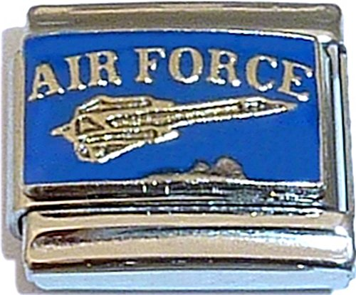 Air Force With Flying Jet Italian Charm (Jet Italian Charm)