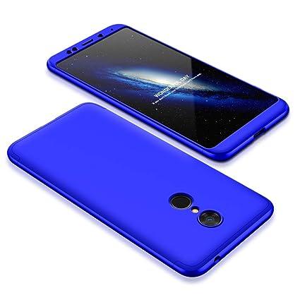 Funda Xiaomi Redmi 5 Plus,Carcasa Xiaomi Redmi 5 Plus, Funda 360 Grados Integral Para Ambas Caras+Cristal Templado,[ 360 °] 3 in 1 Slim Fit Dactilares ...
