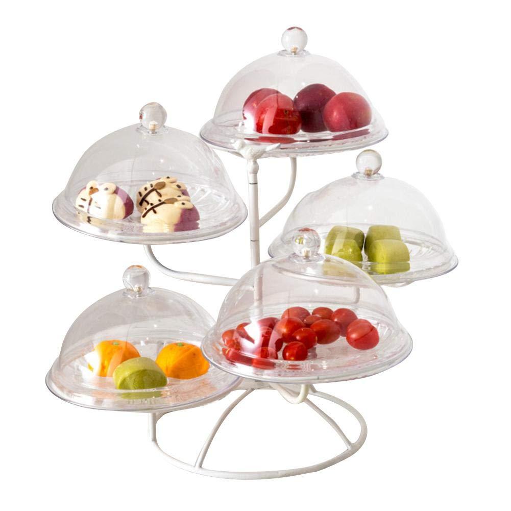 Ntribut Assiette De Fruits Multicouche en Fer Assiette De Fruits en Fer Assiette De Fruits Multicouche Panier À Fruits Multicouche dans Le Salon Et La Cuisine (Hors Couverture)