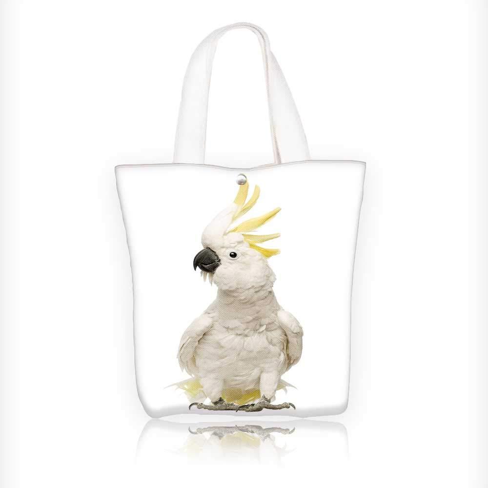 fc035d6556 Amazon.com  Canvas Tote Handbag sulphur crested cockatoo cacatua galerita  years Shoulder Bag Purses For Men And Women Shopping Tote W11xH11xD3 INCH   Kitchen ...