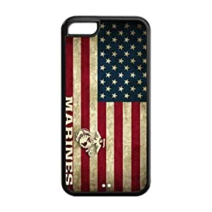Fashion Marine Corps Personalized iPhone 5C Rubber Silicone Case Cover -CCINO
