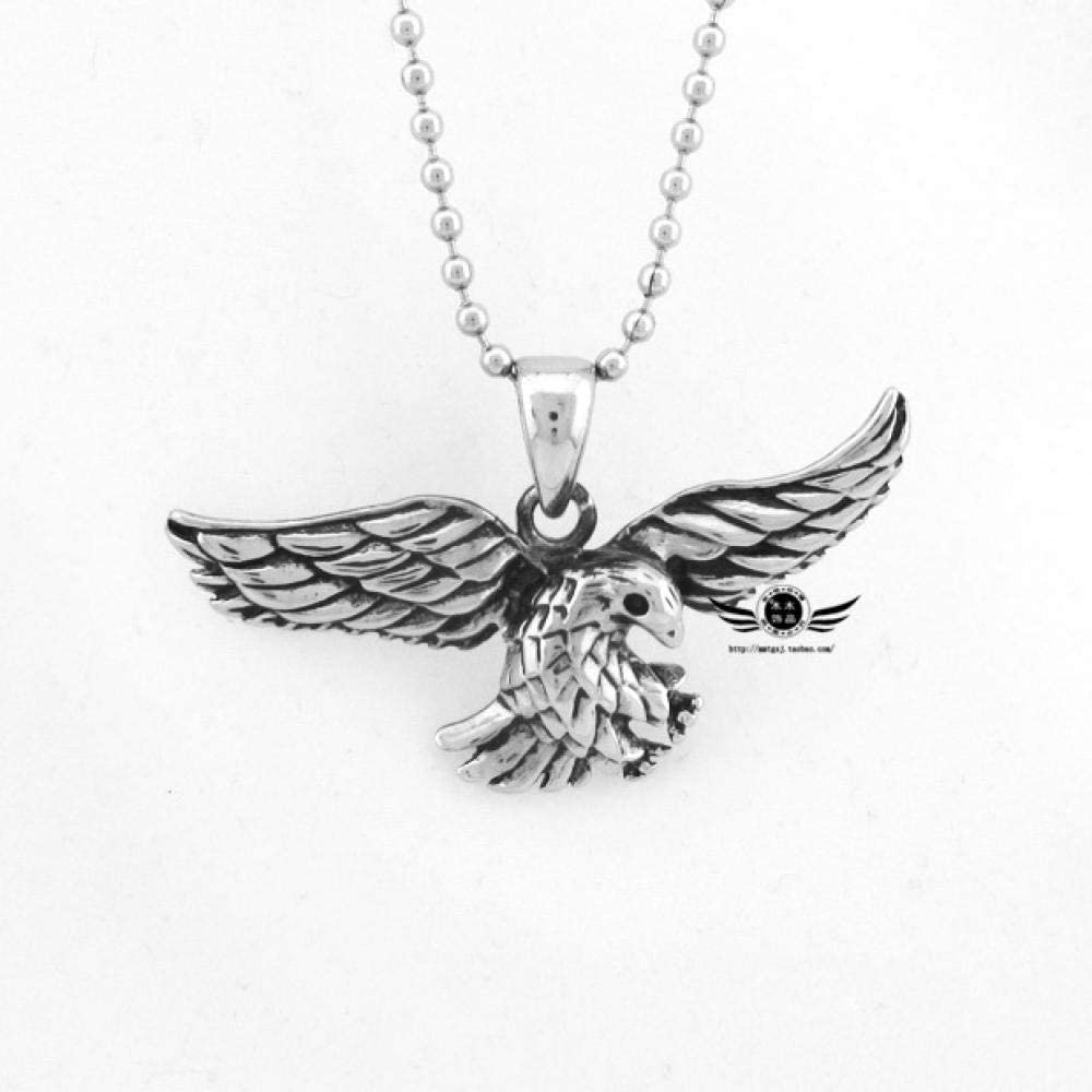HAMANY Necklace,Mens Necklaces,Eagle Mens Titanium Steel Necklace Stainless Steel Animal Pendant