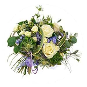 alfombrilla de ratón Ramo de flores de rosas, claveles verdes y flores de lavanda i - ronda - 20cm
