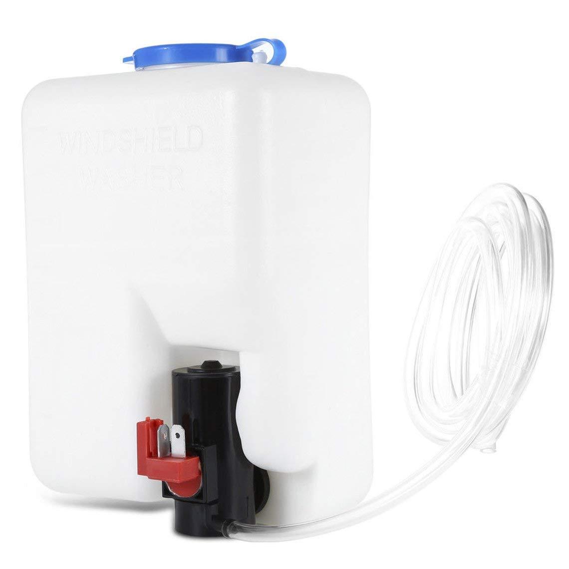 Zinniaya Tanque de lavado Bomba Kit de botella Sistemas de limpiaparabrisas universales Dep/ósito de calidad