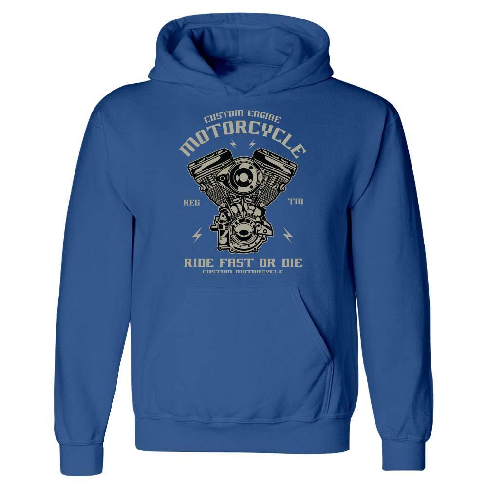 Hoodie Custom Engine Motorcycle Fast Ride