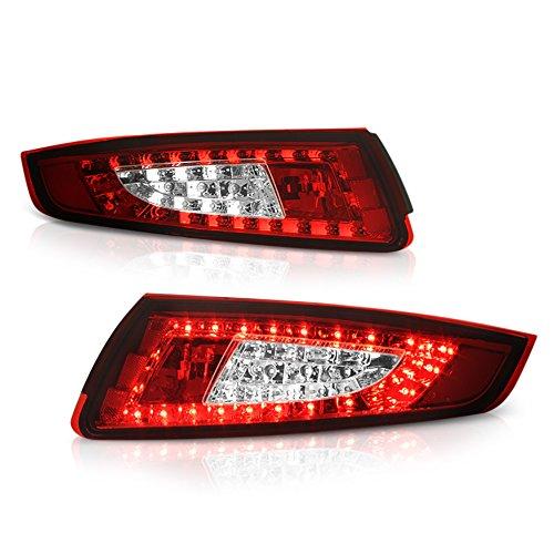 ([For 2005-2008 Porsche 997-Series 911 Carrera & Targa] VIPMOTOZ Premium LED Tail Light Lamp - Rosso Red Lens, Driver & Passenger Side)