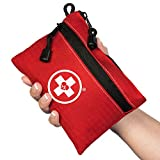 First Aid Kit Pouch (64-Piece): Pocket Sized, Lightweight & Compact with Dual Zippers