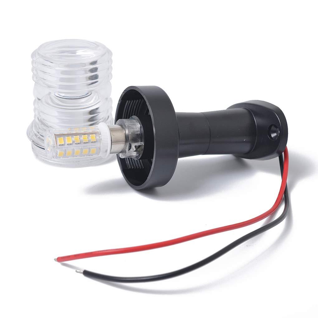 fgghfgrtgtg 360 degr/és 12V 3W LED 5inch Bateau Ancre de poupe Navigation Masthead Socle Blanc LED