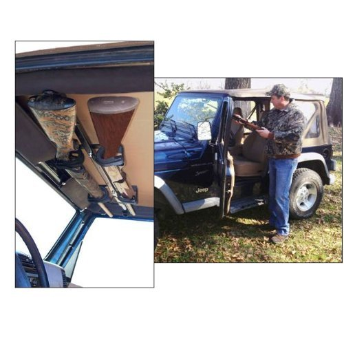 Great Day Quick-Draw Overhead Gun Rack for JEEP ( 42''-48'' rollbar width) by Great Day