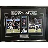 Framed Fly Eagles Fly Philly Special Nick Foles & Trey Burton Philadelphia Eagles Super Bowl 52 Champions Dual 8x10 Football Photo Professionally Matted