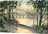 Paris Evening by Marilyn Simandle - 22''x32'' Gallery Wrapped Giclee Canvas Art Print - Ready to Hang