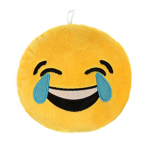 Round Cushion Soft Plush Emoji Smiley Emoticon Stuffed Toy Doll Cushion Pillow (Laugh To Tear)
