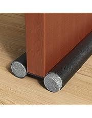 H HOME-MART Twin Draft Stoppers for Bottom of Doors 1 Pack Door Draft Blocker Guard Noise Light Odor Reduction Windshield Energy Saving Under Door Seal, 37.8Inch