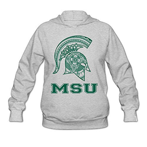 Price comparison product image Boxer98 Women's Hoodie Michigan State MSU University Size M Ash